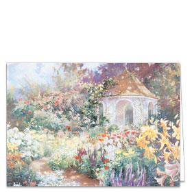 Fold-over Postcard-Garden Gazebo