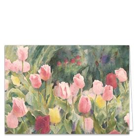 Fold-over Postcard-Tulip Garden
