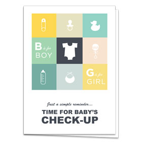 Fold-over Postcard-Baby Gifts