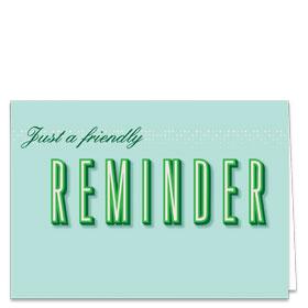 Fold-over Medical Postcards - Simple Reminder