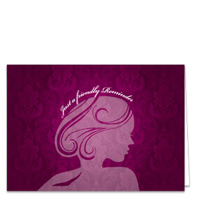 Fold-over Medical Postcards - Magenta Silhouette