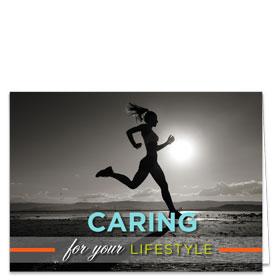 Fold-over Medical Postcards - Lifestyle Reminder