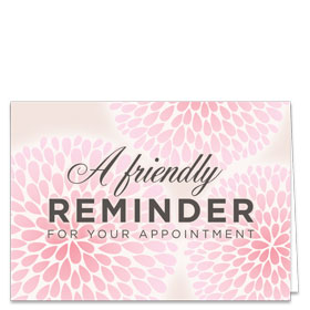 Fold-over Medical Postcards - Blossoms Reminder