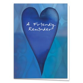 Fold-over Medical Postcards - Cobalt Reminder