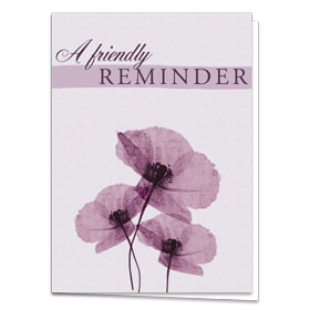 Fold-over Medical Postcards - Purple Poppies