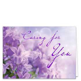 Fold-over Medical Postcards - Lavender Reminder
