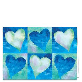 Fold-over Medical Postcards - Hearts Reminder