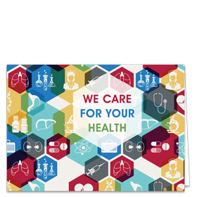 Fold-over Postcard-Hexagon Health
