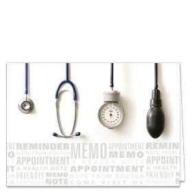 Fold-over Medical Postcards - Tools Reminder