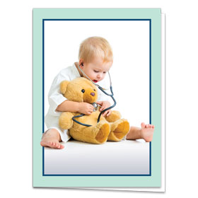 Fold-over Medical Postcards - Teddy Bear Check-Up