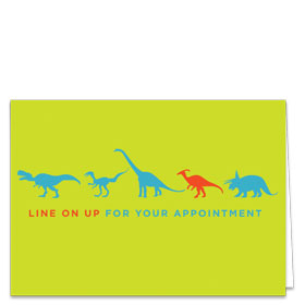 Fold-over Postcard-Dino Line Up