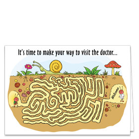 Fold-over Medical Postcards - Reminder Maze