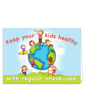 Fold-over Medical Postcards - Active Kids Reminder