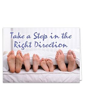 Fold-over Postcard-Family Feet