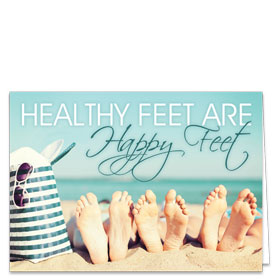 Fold-over Medical Postcards - Beach Feet