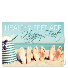 Fold-over Postcard-Beach Feet