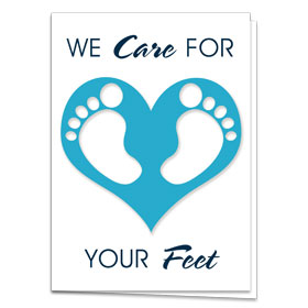 Fold-over Medical Postcards - Foot Love
