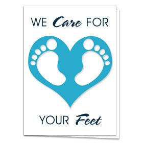 Fold-over Postcard-Foot Love