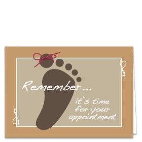 Fold-over Postcard-Tie Reminder