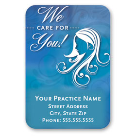 Full-Color Medical Business Card Magnets - Crocus