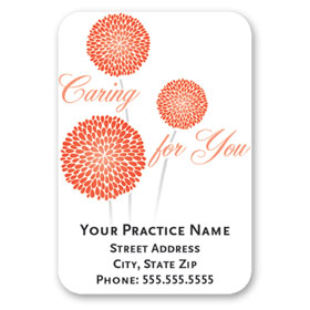 Full-Color Medical Business Card Magnets - Blooming