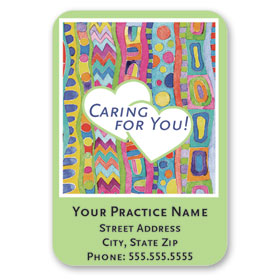 Full-Color Medical Business Card Magnets - Caring for You