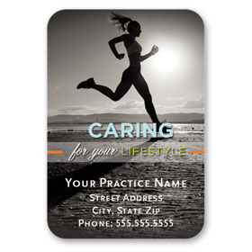 Full-Color Medical Business Card Magnets - Caring Lifestyle