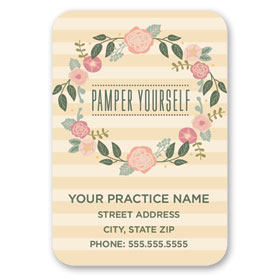 Full-Color Medical Business Card Magnets - Perfect Petals