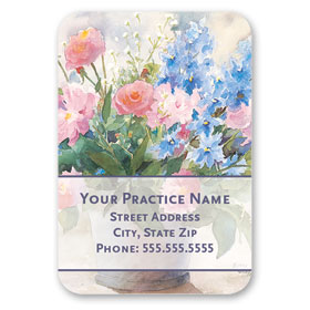 Full-Color Medical Business Card Magnets - Daisies