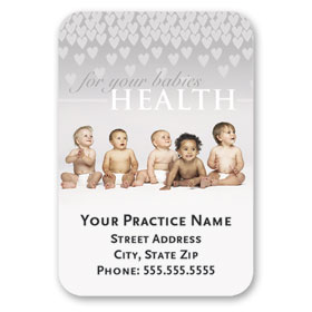 Full-Color Medical Business Card Magnets - Lilly Field