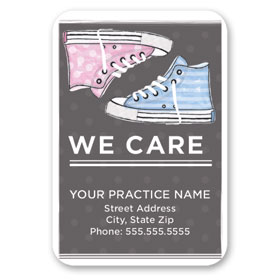 Full-Color Medical Business Card Magnets - High Tops