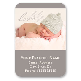 Full-Color Medical Business Card Magnets - Cozy Baby