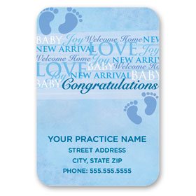 Full-Color Medical Business Card Magnets - Words of Joy