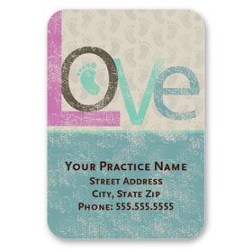 Full-Color Medical Business Card Magnets - Love