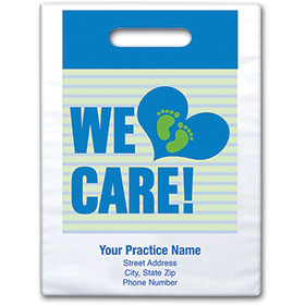 "Personalized Medical Supply Bags - 9"" X 13"" - Design 02D"
