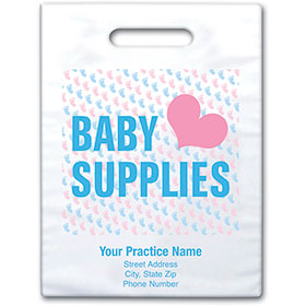 "Personalized Medical Supply Bags  -  9"" X 13"" - Design 04D"