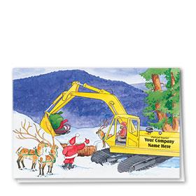 Construction Holiday Cards - Santa's Helper