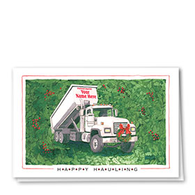 Construction Christmas Cards - Happy Hauling
