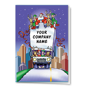 Trucking Christmas Cards - Along for the Ride