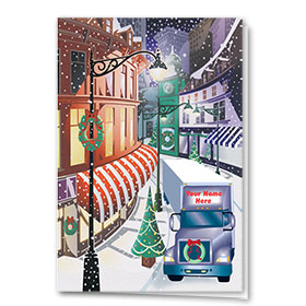 Trucking Christmas Cards - Downtown