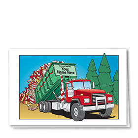 Trucking Christmas Cards - Roll-Off Gifts