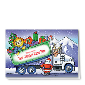 Trucking Christmas Cards - Holiday Roll-Off