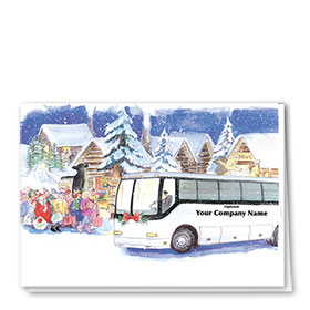 Construction Christmas Cards - Holiday Touring