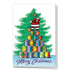 Construction Christmas Cards - Merry & Bright