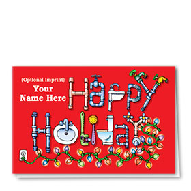 Construction Christmas Cards - Happy Plumbing