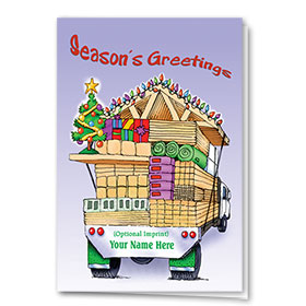 Construction Christmas Cards - Light up the Lumber