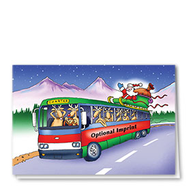 Construction Christmas Cards - Reindeer Road Trip
