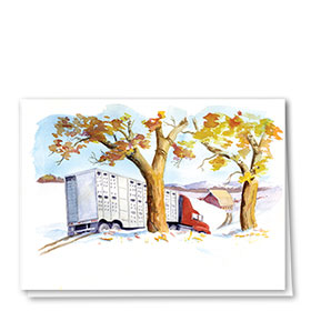 Construction Christmas Cards - Fall Beauty