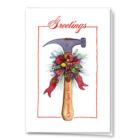 Construction Christmas Cards - Holiday Hammer