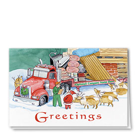 Construction Christmas Cards - North Pole Addition